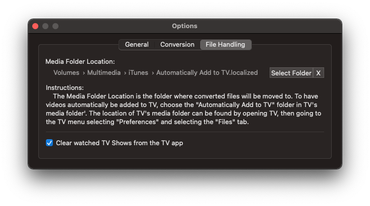 File Handling Prefs for Magic Media Marker